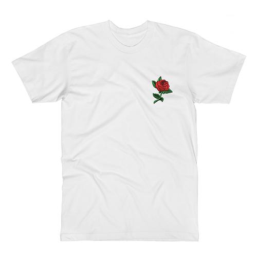 Red Rose - White Tee