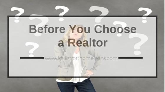 Before You Choose a Realtor