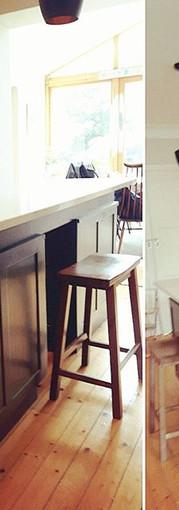 We reused an old vintage desk to make th