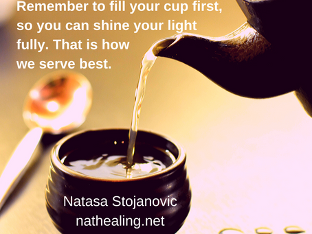Learn to dance in the storm as the warrior of the heart - fill your cup first!