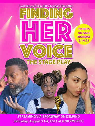 Finding Her Voice - The Stage Play Flier