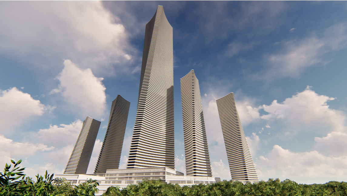 Mega Tall Complex Towers