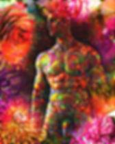 nude male art titled Eros -art of Mohan
