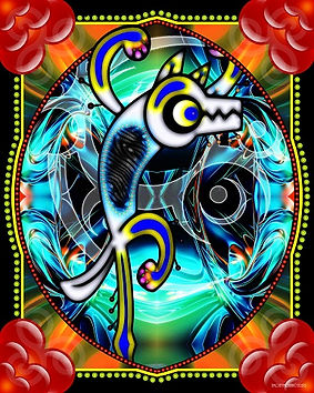 sendout Mohan - Wolf Dance 2left - 32x40
