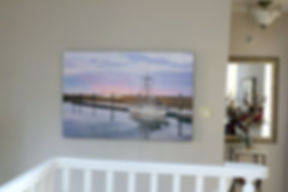 Scotch Pond canvass wrap photograph on wall in home