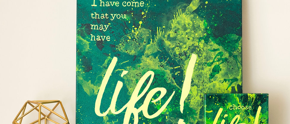 """""""Life"""" Scripture Canvases"""