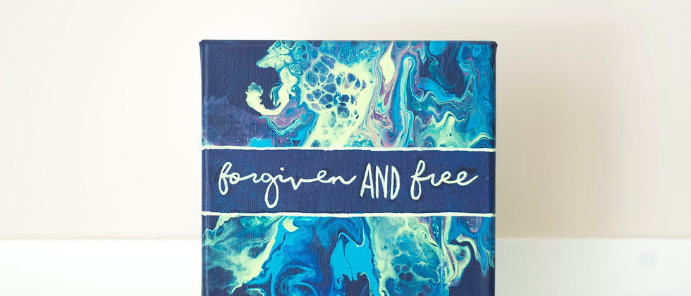 """""""Forgiven And Free"""" Affirmation Canvas"""