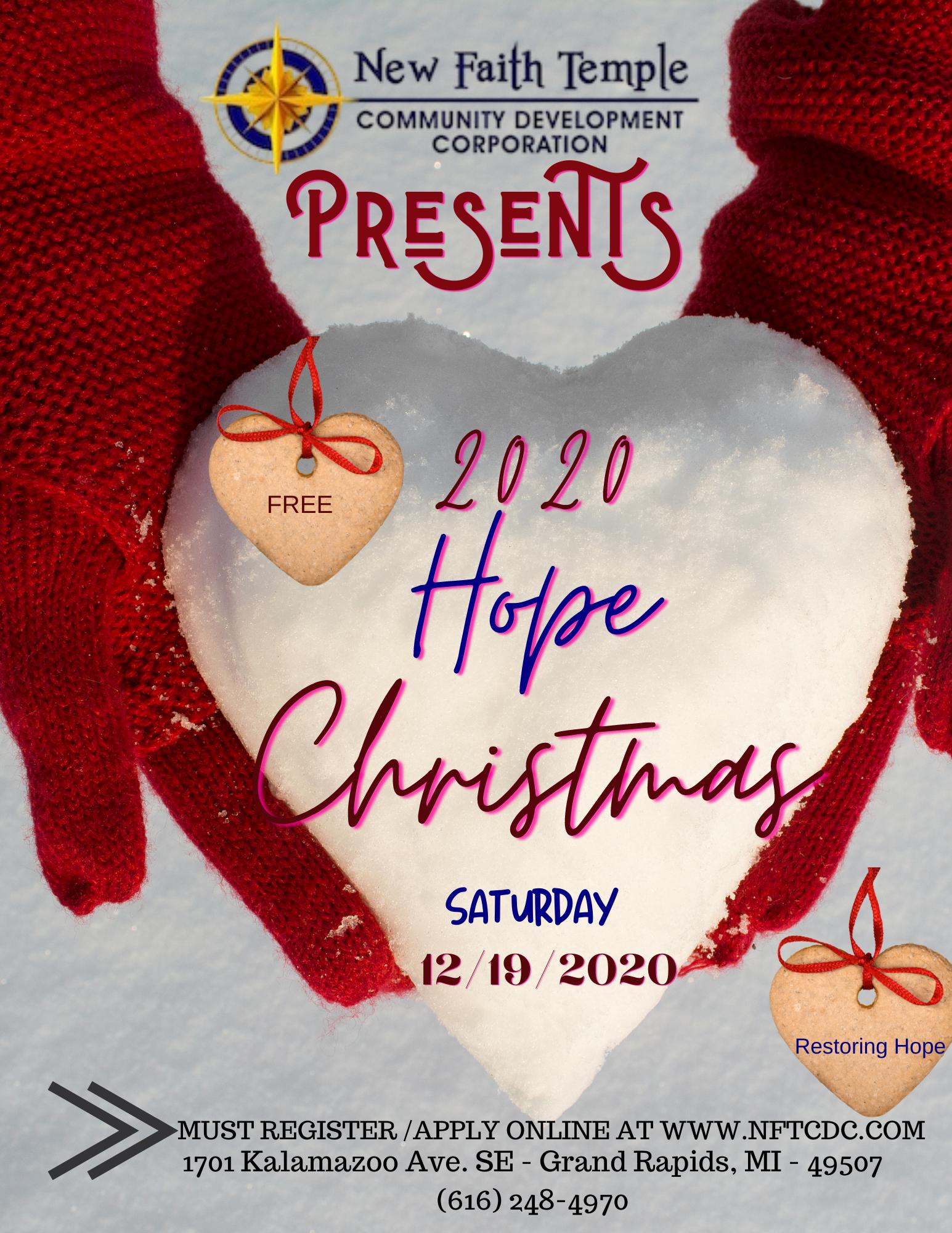 Hope Christmas Personal Wonderland 12/19