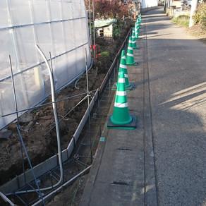 太田市 境界ブロック工事