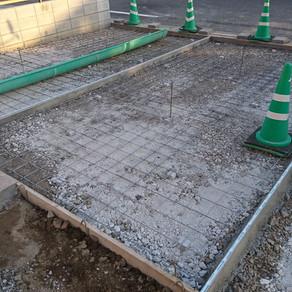 伊勢崎市外構工事 コンクリート打ち、目隠しフェンス