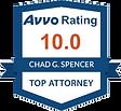 Avvo Rating (Chad G. Spencer)