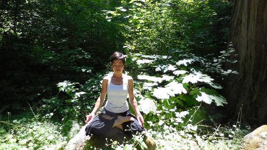 Kazuko in meditation
