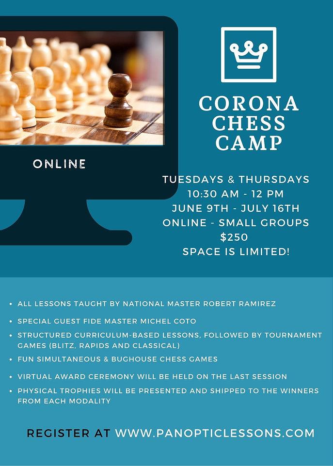 Corona Chess Camp