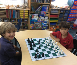 Small children playing their first game