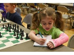 Cute girl playing tournament