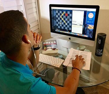 NM Robert Ramirez plays Chess online from home