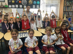 First group at St Stephen's Chess Club
