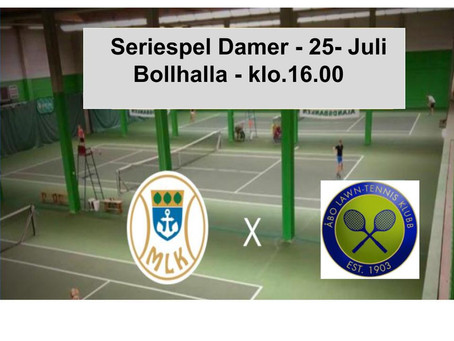 Come watch the ladies tennis team play against ÅLK 3 this weekend at Bollhalla at 16.00!