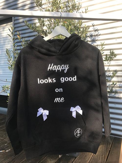 HOODIE BLACK HAPPY