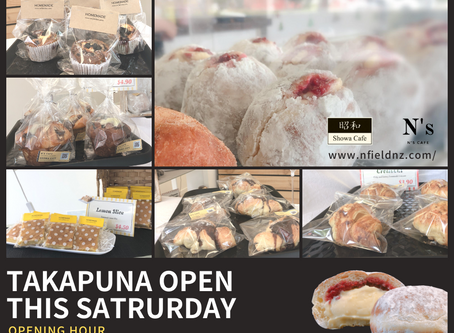 Takapuna will open this SAT from 10am