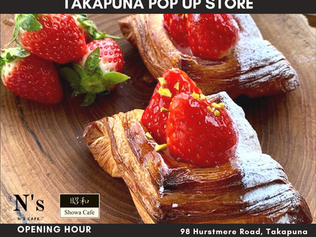Takapuna pop up store will open this Saturday from 10am🥐