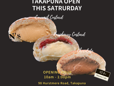 Takapuna Pop up store will open from 10am until 1PM  tomorrow.🍞