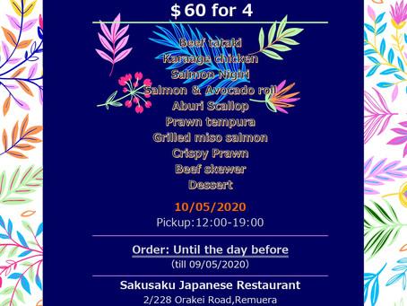 Mother's day special takeaway Saku Saku