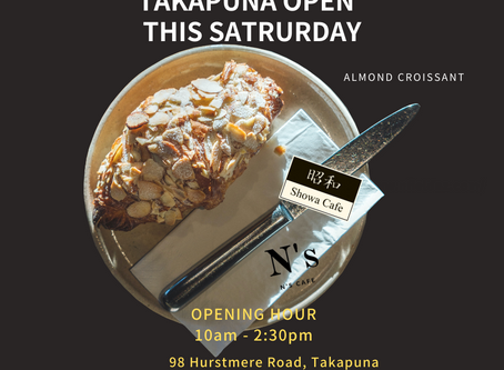 Takapuna pop up store open from 10am this Saturday(10th OCT)