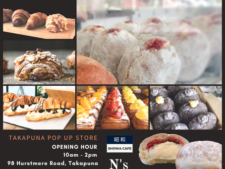 Takapuna pop up store open from 10am tomorrow🥐🍫🧀