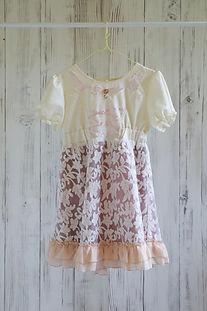 ドレス サーモンピンク柄 130cm
