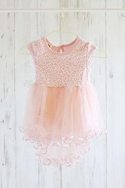 チュールドレス ピンク