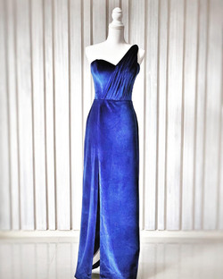 Luxe Couture Royal Blue Velvet Dress