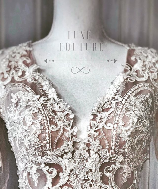 Luxe Couture Wedding Lace Closeup
