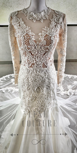 Luxe Couture mermaid wedding dress