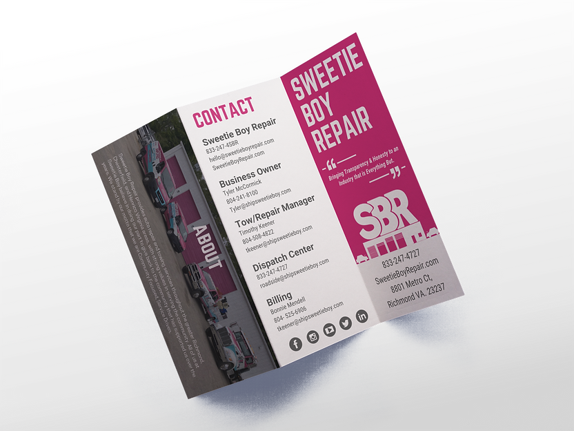 mockup-of-a-trifold-brochure-open-agains
