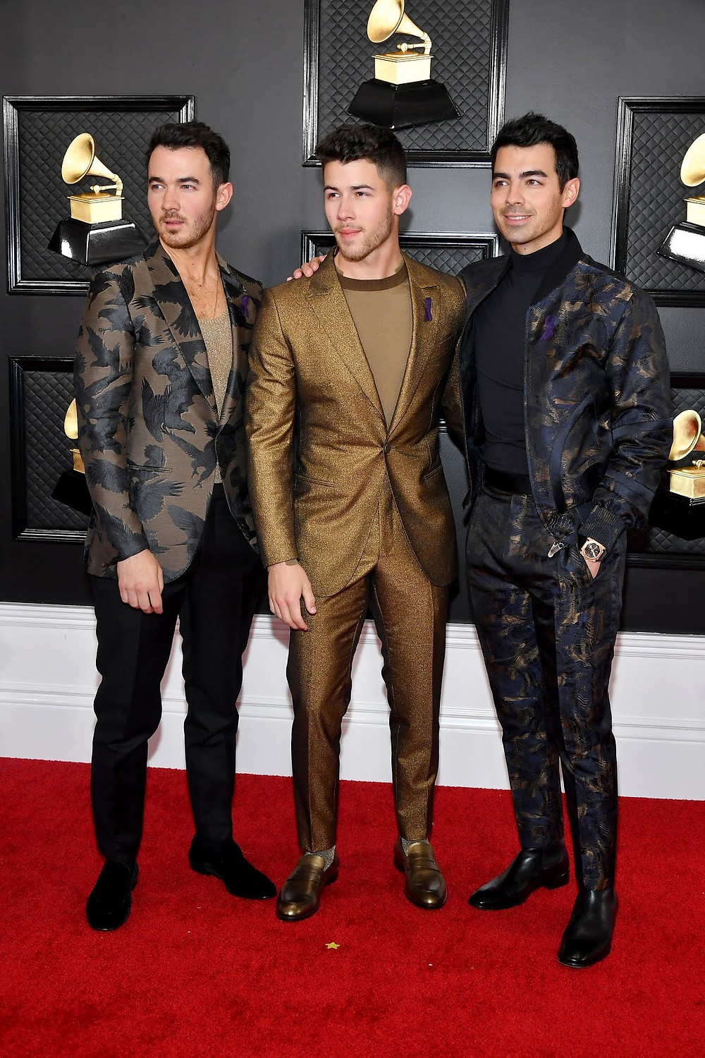 Jonas Brothers at the Grammys 2020 Red Carpet