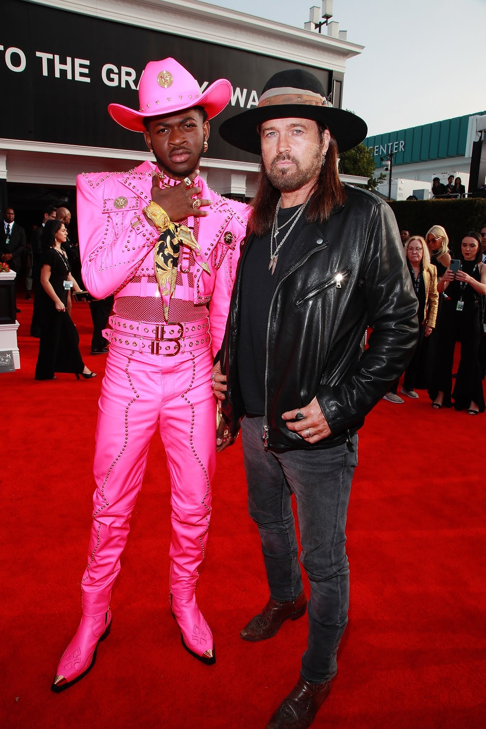 Lil Nas X & Billy Ray Cyrus at Grammys 2020 Red Carpet