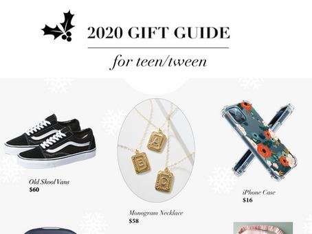 2020 Gift Guide: FOR TEEN/TWEEN
