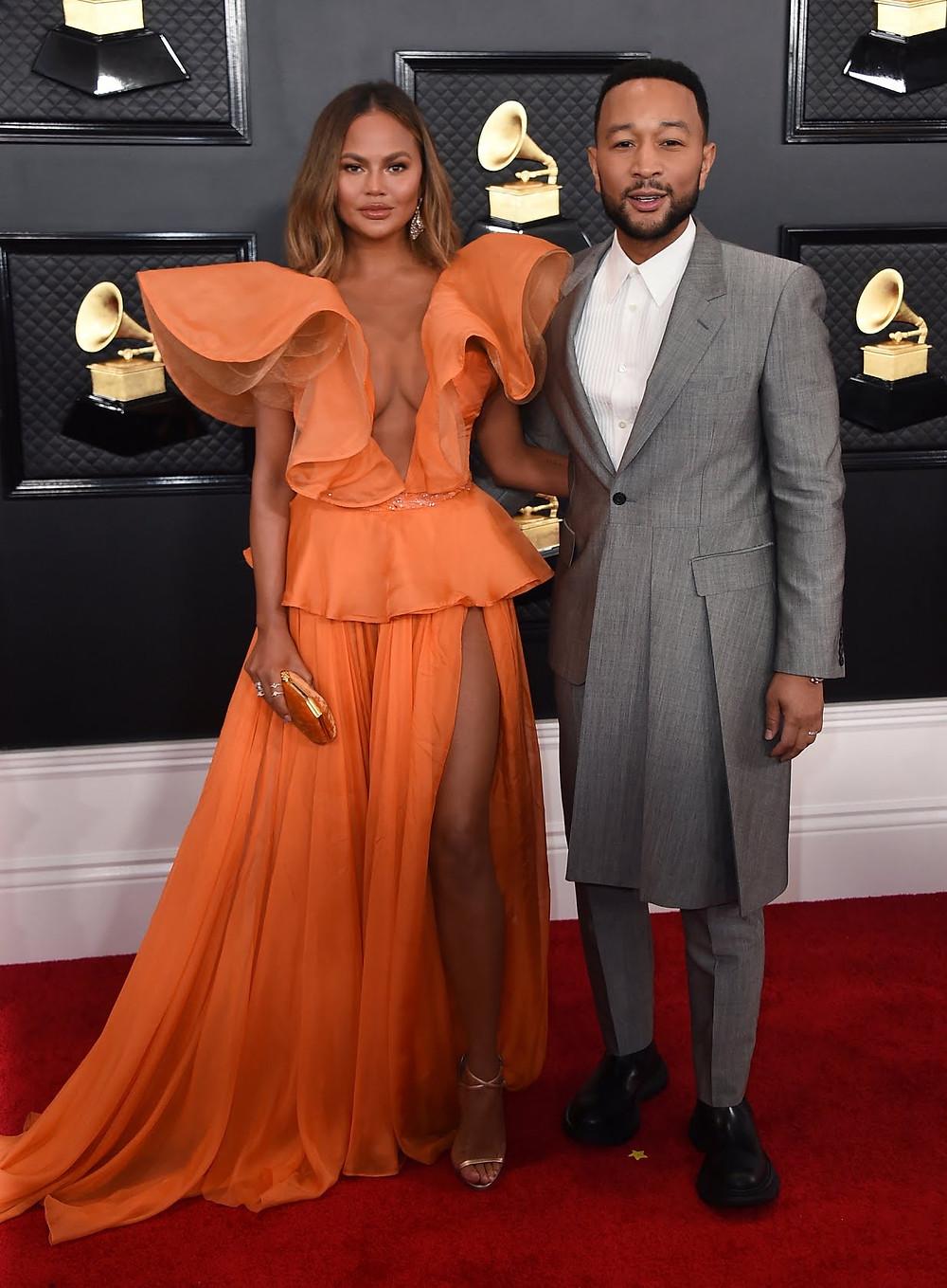Chrissy Teigen and John Legend, Grammys 2020