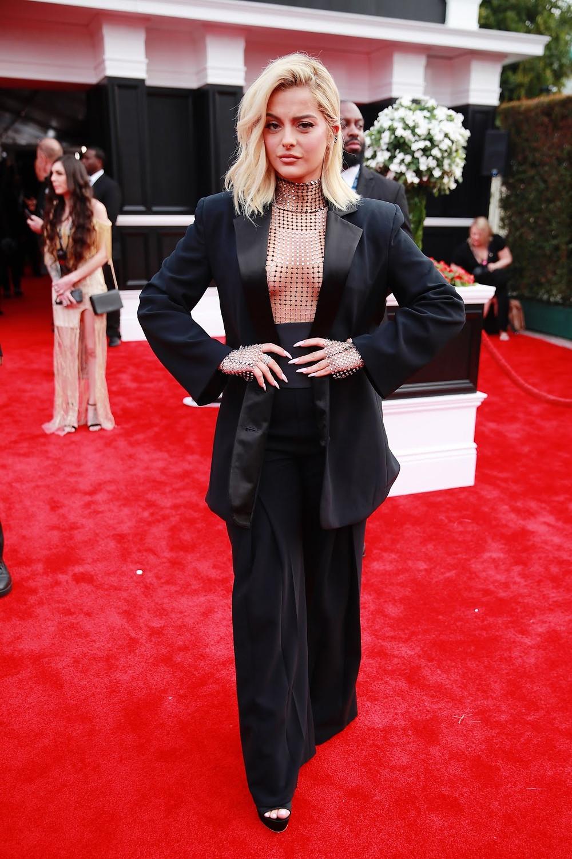 Bebe Rexha at Grammys 2020 Red Carpet