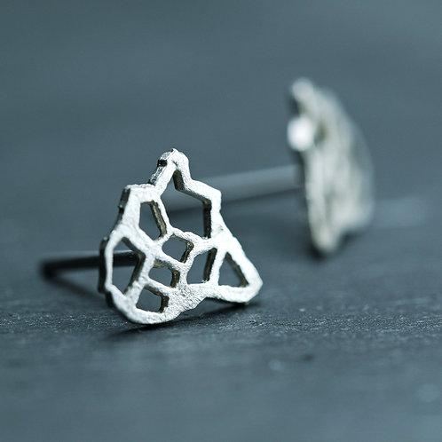 Earrings - Afrika - 18K white gold