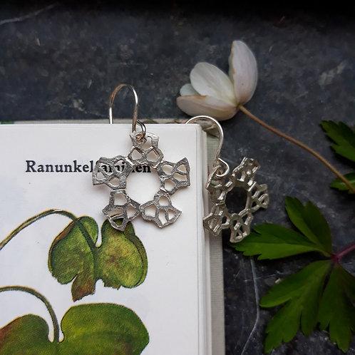 Øreringe - Ranunkel - sterling sølv