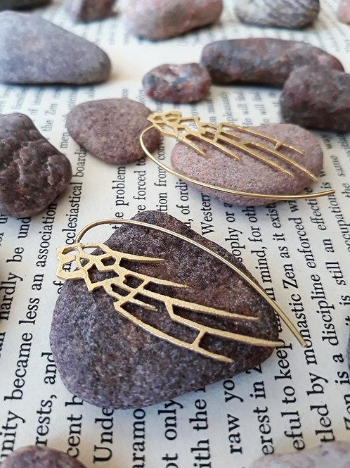 Earrings - Wings - 18K yellow gold
