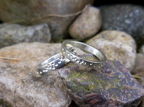 wedding rings - life's trail - 18K gold
