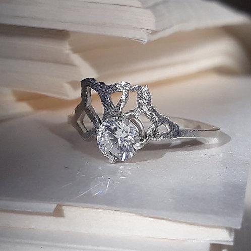 Forlovelsesring - 18K guld
