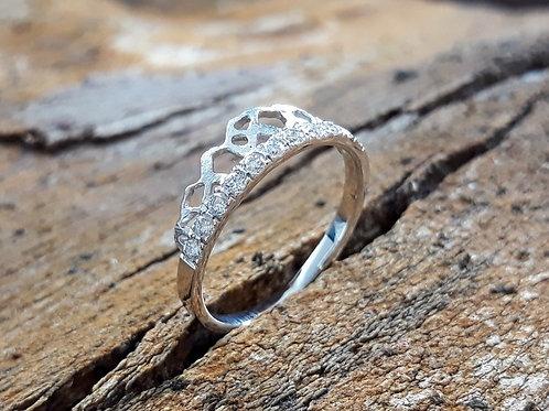 Ring - Diamant Prinses - 18K hvid guld