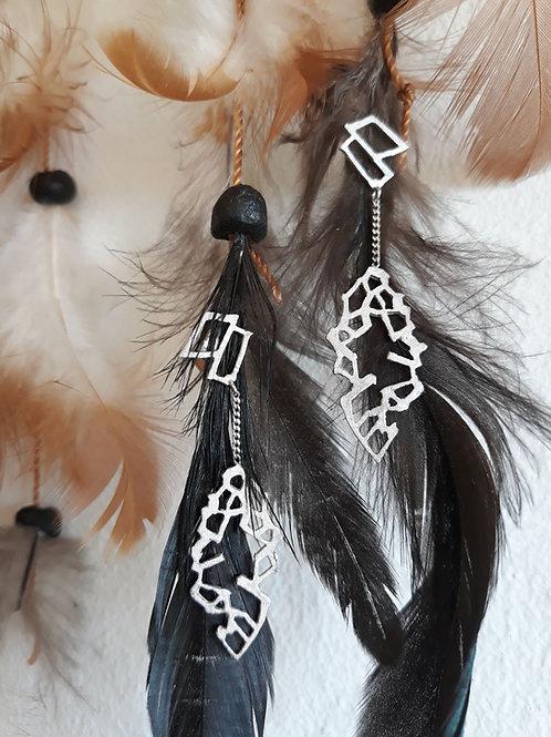 Earrings - Leaves - 18K white gold