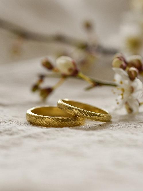 wedding rings - Helix 3mm - 18K yellow gold