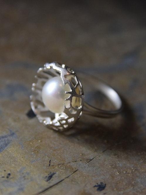 ring - nest - sterling silver
