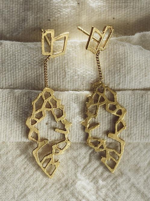 Øreringe - Leaves - 18K gult guld